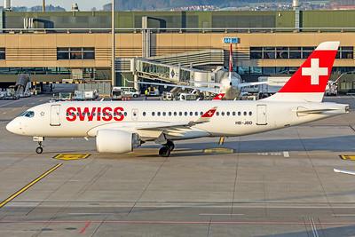 Swiss Airbus A220-100 HB-JBD 2-14-19