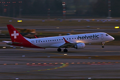 Helvetic Airways Embraer ERJ-190-100LR HB-JVN 2-14-19