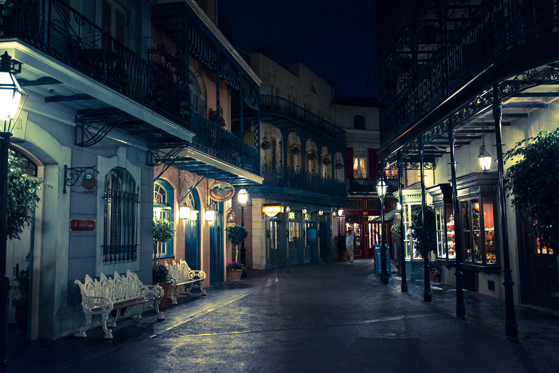 Orleans Square after hours