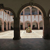 Peering Into A Beautiful Old Courtyard, Part Of The Ex-Convento