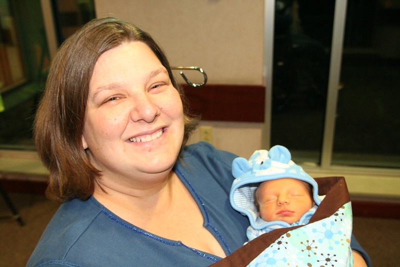 Mommy basking with her Zachary