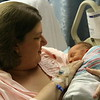 In Mommy's arms at last