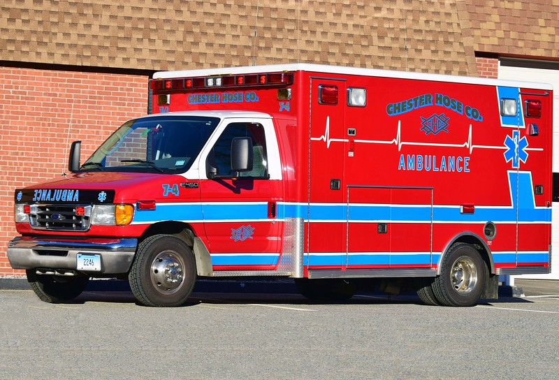 Chester's Ambulance 7-4, a 2003 Ford E-450/Life Line Superliner.