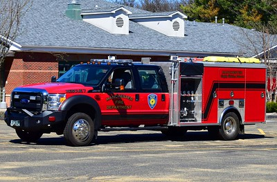 Manchester Eighth Utilities' Rescue 7, a 2016 Ford F-550/2000 EVI remount rescue mini pumper.