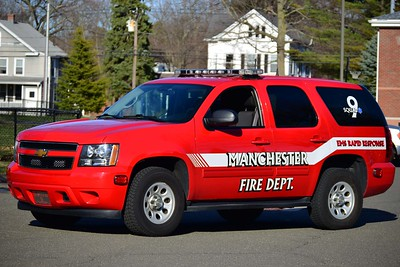 Manchester Eighth Utilities' Squad 9, a 2012 Chevy Tahoe EMS response SUV.