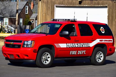 Manchester Eighth Utilities' Unit 8, a 2012 Chevy Tahoe shift commander's SUV.