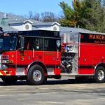 Manchester Eighth Utilities' Squad 5, a 2015 Pierce Arrow XT rescue pumper.