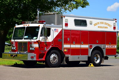South District's Rescue 35, a 1991 Peterbuilt/Saulsbury rescue and equipment truck.