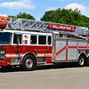 Wallingford's Ladder 1, a 2010 Seagrave 100ft RMA ladder truck.