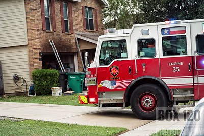 Engine Co. No 44 laid out on a working fire in a two story dwelling at Bridle Rdg & Rustic Gate on the cities far west side. Engine 44 advised responding units that they could see smoke from the onramp to Hwy 90 from their fire house, and arrived to find heavy smoke showing from the garage of a two story dwelling declaring a working fire. Engine 44 dropped a minuteman preconnect while Engine Co 36 staged on a hydrant. Platform Ladder 35 and Engine Co. 35 assisted Engine 44's crew with fire attack and completing the primary search, which came back negative. Thanks to an aggressive attack crews were able to get a solid knockdown. Battalion Chief 3-0 assumed command upon his arrival, and quickly downgraded the working fire assignment to a still alarm and declared an out-tap on the box. Companies on the ticket were EN35 EN36 EN44 PL35 MAC26 M44 MOF1 BC03