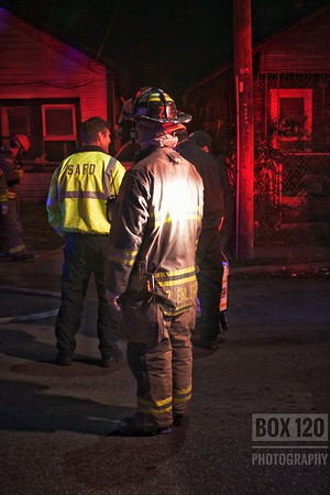 Engine Co 10 laid out on a single story, wood framed dwelling with fire showing on arrival tonight in the 2900 blk of W. Martin St. Engine 10 had fire showing from the Bravo/Charlie corner on arrival and pulled a preconnect while Ladder 8 had search and BC 1-0 held command with Platform-Ladder 11 assigned as the RIT. Engine 8 assisted with water supply and pulling an additional redline for overhaul. Crews had the fire knocked down within 10 min of arrival. Arson was requested as an open gas can was found on the porch of the structure. Companies on the ticket were EN08 EN10 EN11 TK08 PL11 HR11  M10 MOF4 BC01