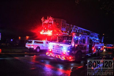 Northeast side companies worked a suspicious fire in an abandoned nursing home in the 4700blk of Goldfield Rd. Engine 38 checked out with heavy fire showing from the Alpha side, and advised that this would be a defensive fire. Platform-Ladder 38 set up on the Charlie side and threw their main up in preparations for aerial  operations. Crews remained on scene for well over 2 hours completing overhaul operations. Companies on the ticket were EN18 EN30 EN38 EN54 TK17 PL38 MAC07 M05 SQ38 MOF4 FSO FSC BC07