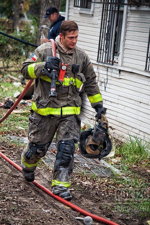 Engine Co 3 pulled a redline on a failed arson job on the east side this morning. Companies of the 6th Battalion were initially dispatched to a reported smoke on the area of 100-200 Pine. Engine 3 checked out and found smoke showing from the Charlie side of a abandoned single story, wood framed dwelling, pulled their redline and upgraded the box to a Working fire. Platform 1 and Engine 1 we're second and third due; and assisted with the investigation on the source of the smoke while Engine 9 staged on the st at a hydrant. Crews found the source of the smoke to be a small fire under the floorboards in the corner of the structure. An Arson Unit was quickly requested the water heater being found on the backyard and the gas and electricity being disconnected. Companies on the ticket were EN01, EN03, EN09, PL01, M09, MOF4 MAC27 BC06