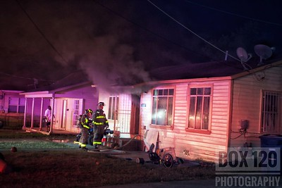 Battalion Chief 6-0 held command on an arson fire in the 1500blk of Center St in the cities  Dignowity Hill section of the city. Engine Co 3 checked out with heavy smoke and some fire showing on the Charlie/Delta corner of a single story, wood framed dwelling and advised that they would be pulling a preconnect. Engine 9 and Ladder 9 assisted 3's crew with fire attack, ventilation, and a primary search. Engine 1 forward laid a supply line while Platform-Ladder 1 was on deck and assisted with salvage and overhaul operations. Crews made a quick knock on the attempted arson job and crews were cleared and back in serve in less than an hour and a half. Companies on the ticket were EN01 EN03 EN09 PL01 TK09 MAC07 M4 MOF4 BC06
