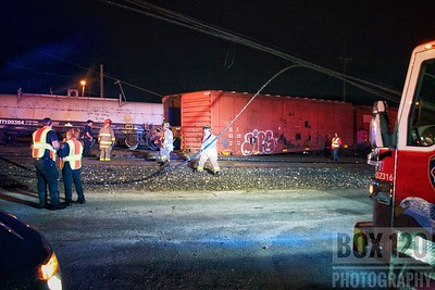 Downtown companies worked a train derailment at the Union Pacific East Rail Yard in the Government Hill area of the city. Engine Co 3 assumed initial command and advised that they had 6 freight cars derailed at the corner of Muncey St & Duval St with power-lines down and a tree in the street. Crews checked with the train conductors and personal, who advised that there was no civilians on board, no injuries, and no fire. Command was transferred to Battalion Chief 6-0 who held companies in staging while Haz-Mat checked the manifest. Crews checked the stability of the train and found no hazards. The scene was cleared and transferred over to CPS and the Train Company reps. Companies on the ticket were EN01, EN03, EN04, EN05, EN11, PL01, PL11, TK06, HR11, HZ01, SP01, SQ01, SQ11, SQ34, MSOU01, MOF2, FSO, FSC BC06, and BC08.