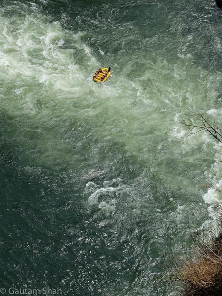 Rafting the Zambezi River