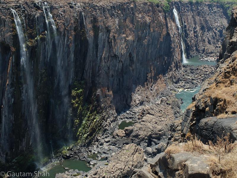 Victoria Falls - Zambia side - dry season