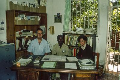 Wildlife Conservation Society of Zambia head office, with Mwape Sichilongo and Nikki Ashley