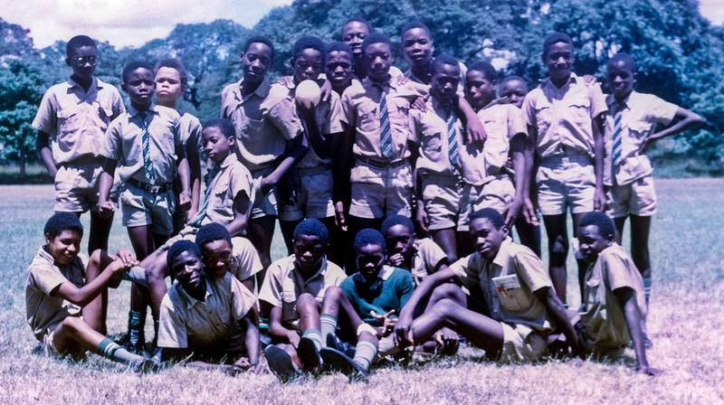 Grade 7 boys, Parker Primary School, Kabwe, Zambia.