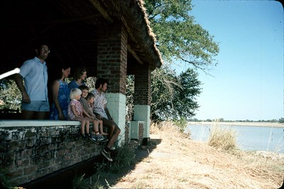 Luambe Camp, Luangwa Valley, with the Kingston family.