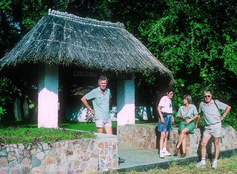 Phil Berry, Nikki Ashley, Palma and Paul Russell at Chinzombo