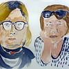 13. Ljiljana Kos Hebrang, Duba i Žana – slikarice, <br />        akvarel, 2015.<br /> 13. Ljiljana Kos Hebrang, Duba i Žana – slikarice, <br />        akvarel, 2015.