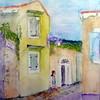 Štefica CERJAN STEFANOVIĆ, Pod javorom, akvarel