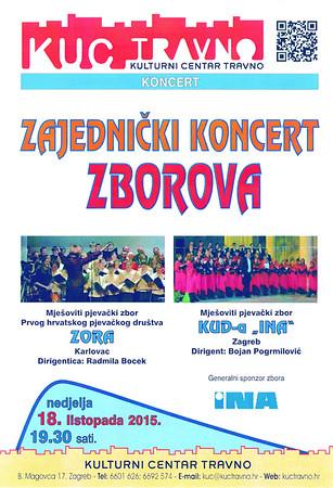 KUD INA koncert , KUC Travno 18.10.2015.