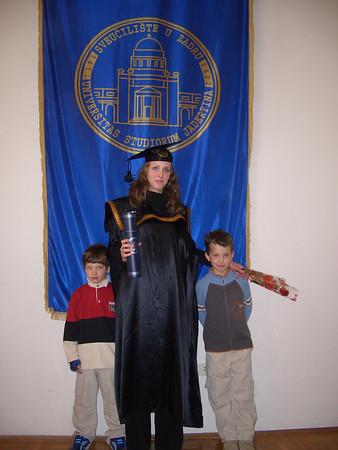 Sonja diplomirala Zadar 13 ožujka 2004