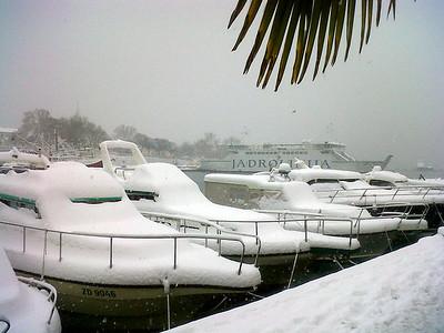 Snijeg u Zadru Siječanj 2012