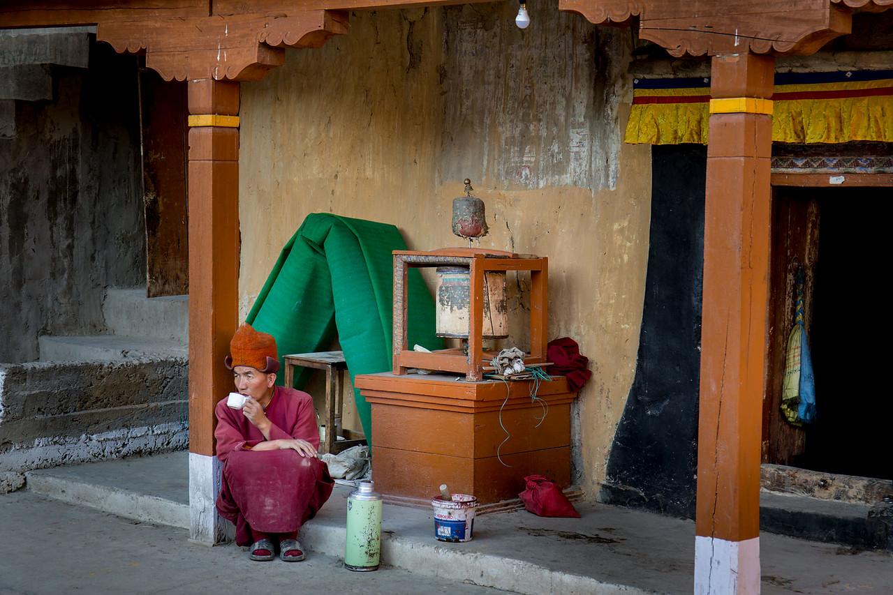 Stongdey monastery, tea break.