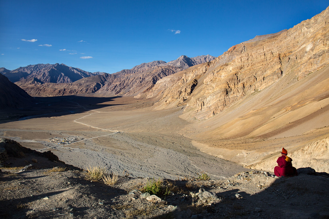 The Zanskar valley. View from the Stongdey monastery.