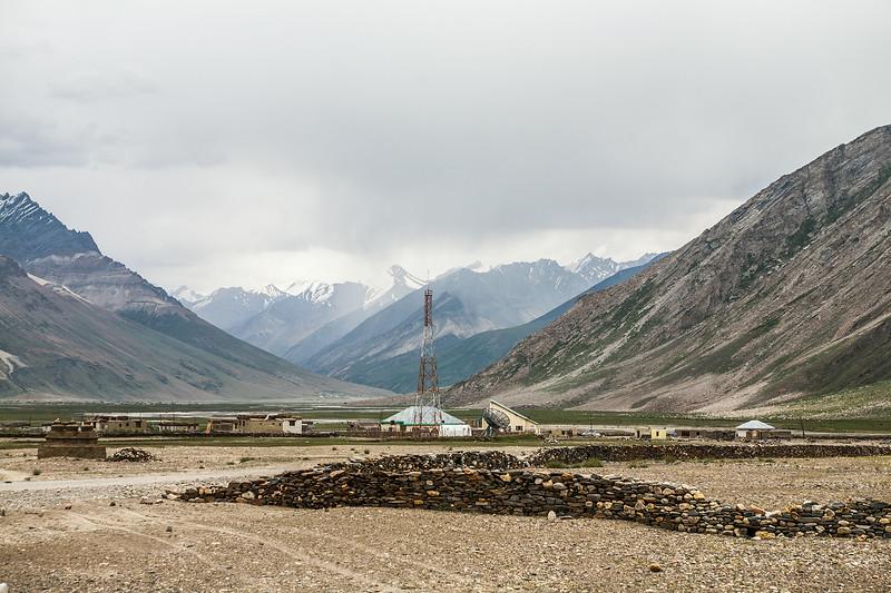 Technology in the middle of nowhere at Rangdum en route Zanskar