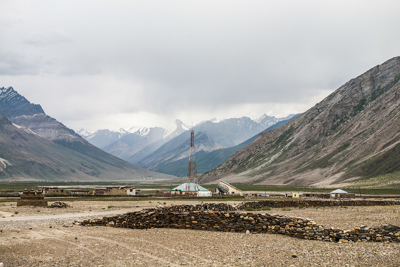 Technology in the middle of nowhere at Rangdum en route Zanskar
