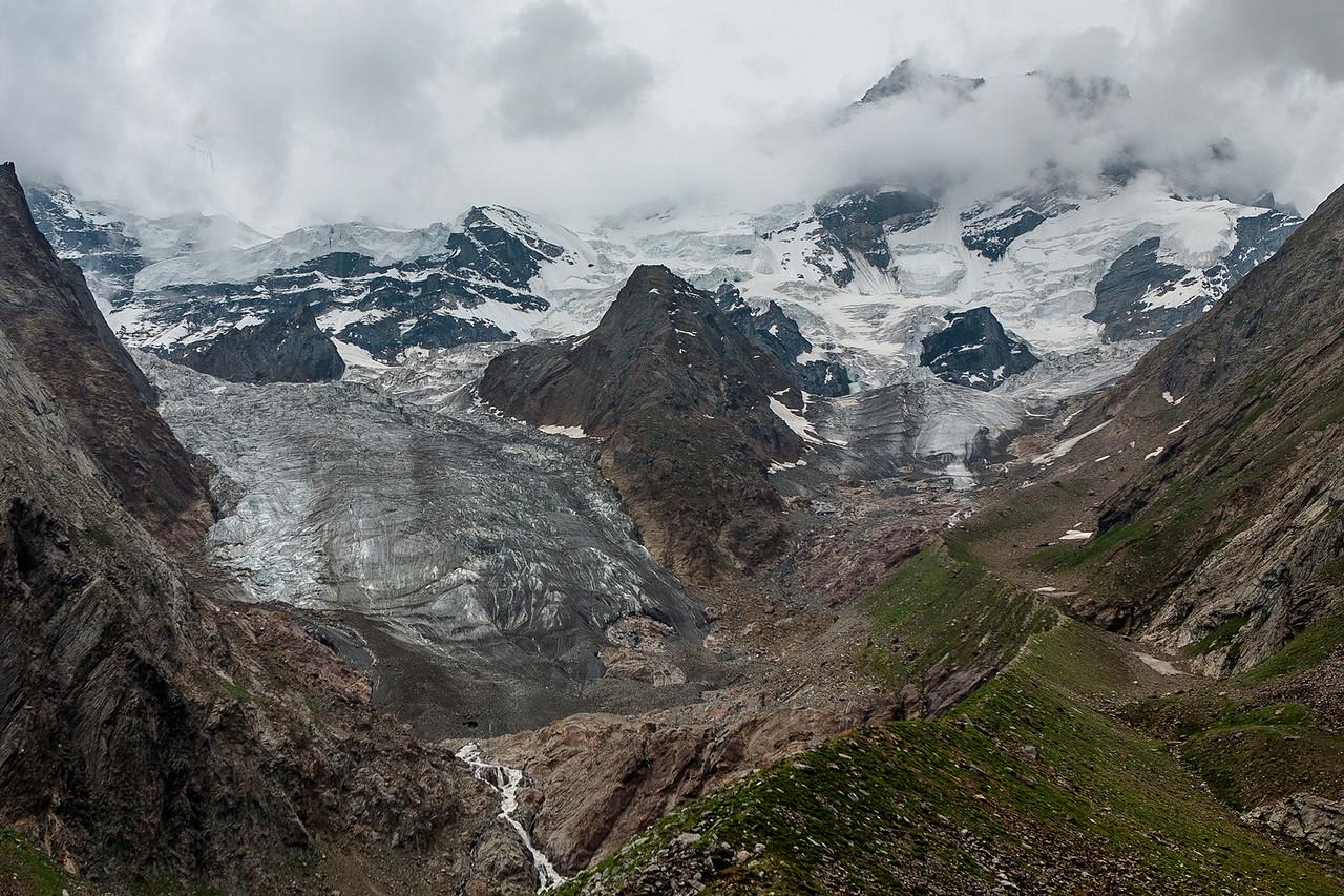 Parkachik glacier en route Zanskar valley