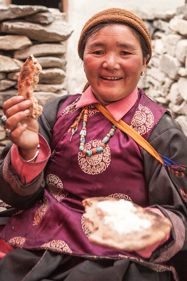 Woman from Sani village in Zanskar, India