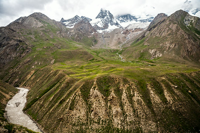 After Parkachik, the last village of Suru Valley civilisation comes to a sudden halt. The river Suru, tributary of Indus gives you company most of the way into Zanskar.