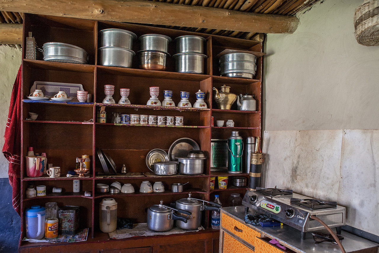 Kitchen of a house in Anmu en route Phuktal
