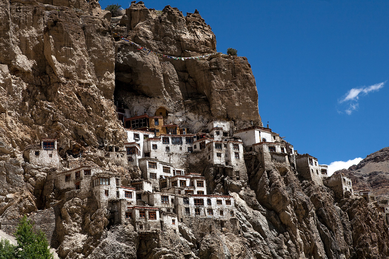 Phuktal monastery hidden in a cave, Zanskar, India