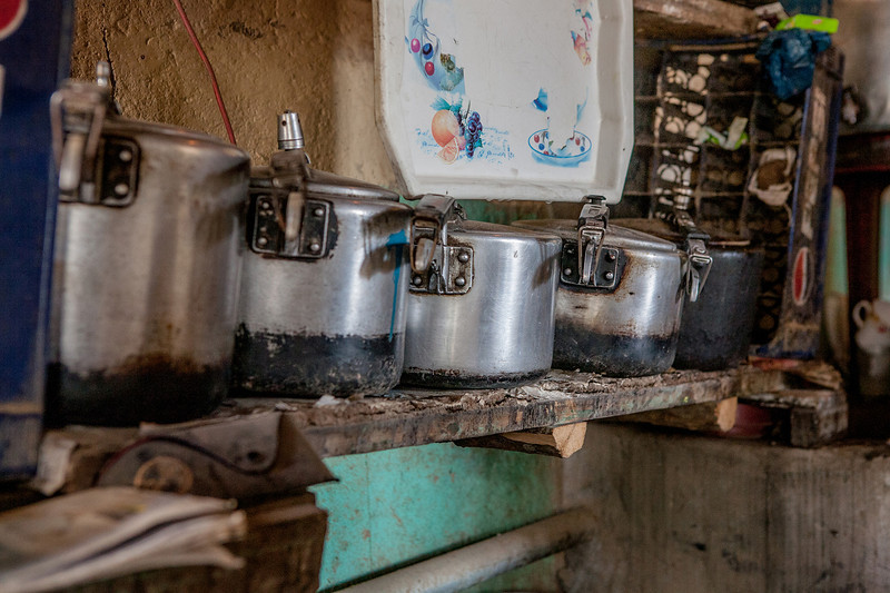 Cooker parade at Sani in Zanskar Valley, India