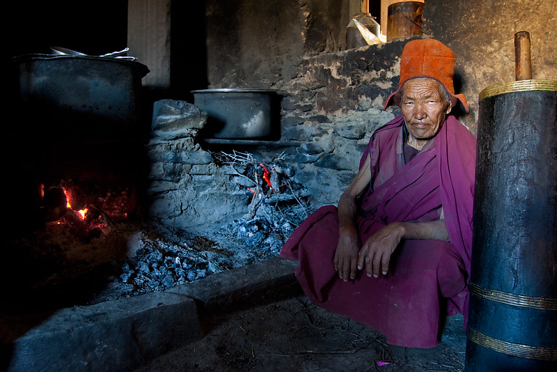 Monastery kitchen, Karsha Monatsery.