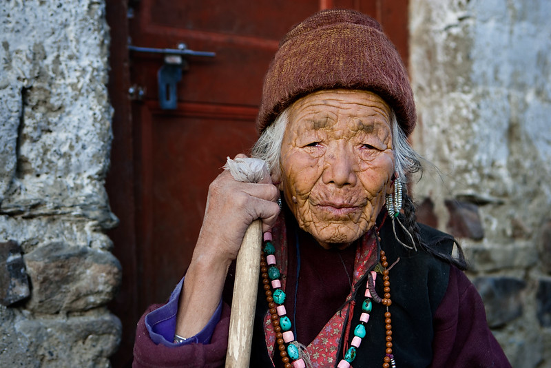 An old lady from Zangla.