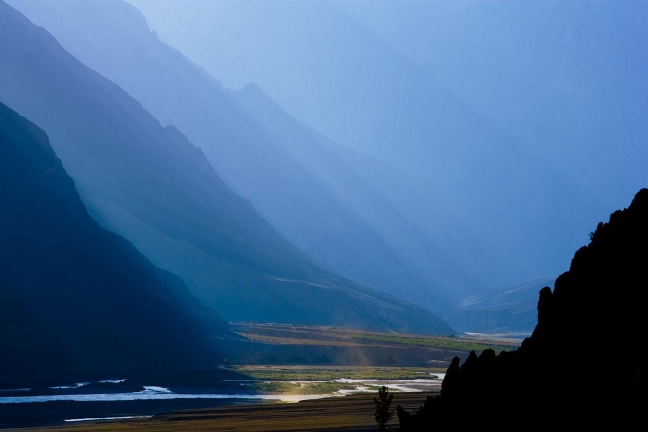 The Zansker River, seen from Zangla.