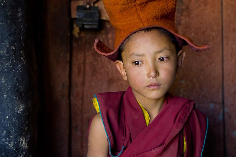 A novice monk, Karsha Monastery.