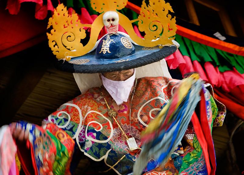 Stongdey Gustor, Cham (mask) dances. Stongdey Monastery.