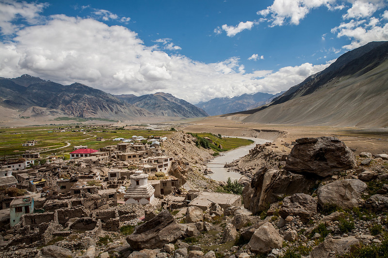 View from a hillock in Padum, Zanskar, India