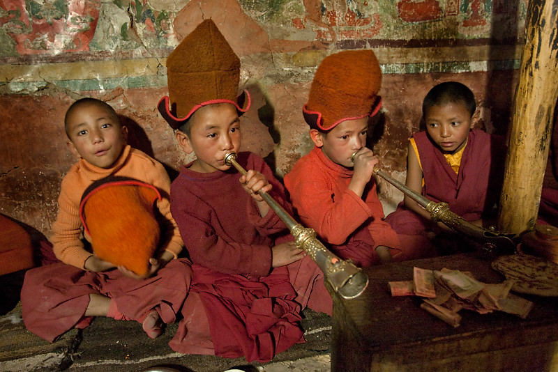 Novice monks, Stongdey Monastery.