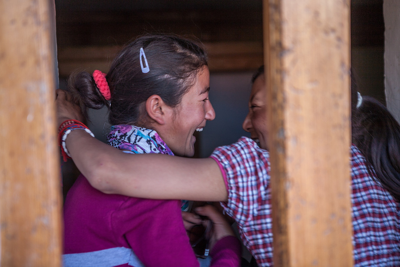 Happiness is your best friend and you! at Sani festival, Zanskar, India