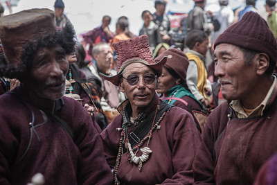 Men dressed in the traditional outfit in Zanskar