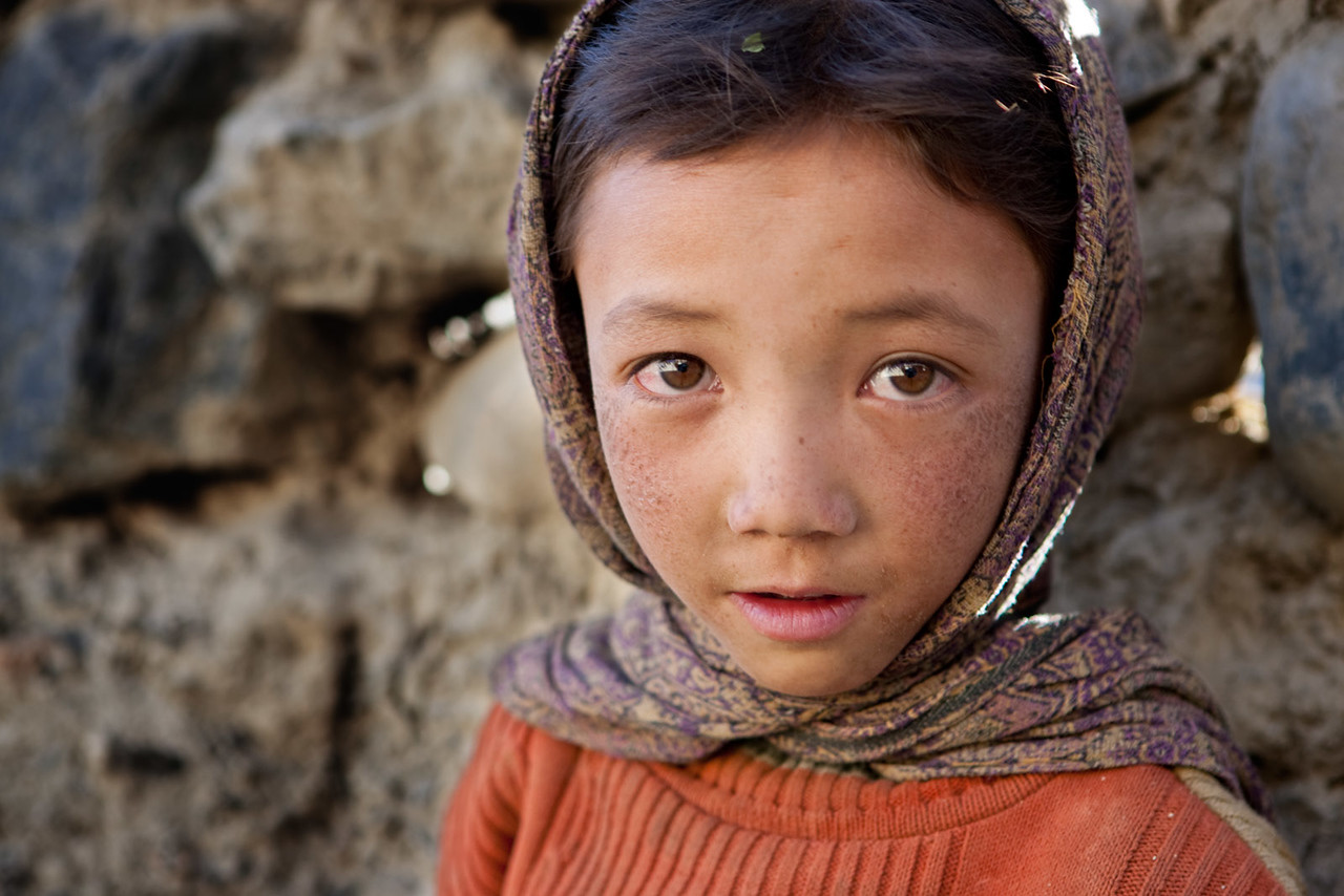 A young girl from Zangla.